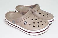 Женские кроксы капучино, сабо Crocs оригинал