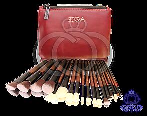 Набір кистей для макіяжу Zoeva Opulence Collection Set Bordo( 18 кистей)
