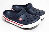 Женские кроксы темно-синие, сабо Crocs оригинал