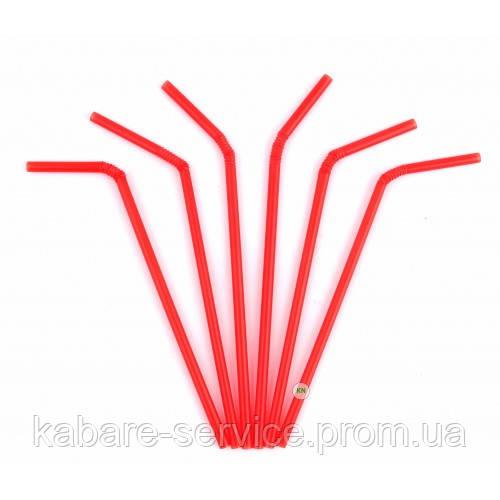 Трубочка (соковая) красная USA 21 см 6 мм 100 шт