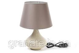 Лампа настольная с абажуром 32 см, цвет; бежевый