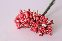 Добавка блеск с травкой 10-12 шт\уп. красного цвета, фото 1