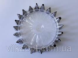 Набор кондитерских насадок для крема и украшения тортов из нержавеющей стали 20 штук D 1,7 cm H 3,2 cm