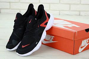 Мужские кроссовки для спорта Nike Free Run 2019 Black Red