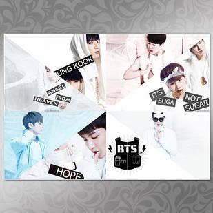 Плакат K-Pop BTS 257