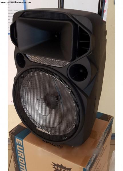 Портативная акустика, аккумулятор, Bluetooth, радиомикрофон EU-1209