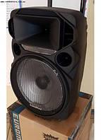 Портативная акустика, аккумулятор, Bluetooth, радиомикрофон EU-1209, фото 1