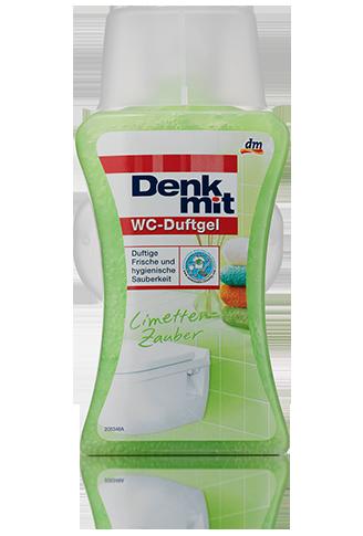 Denkmit арома гель для унитаза с корзинкой WC-Duftgel Limetten-Zauber