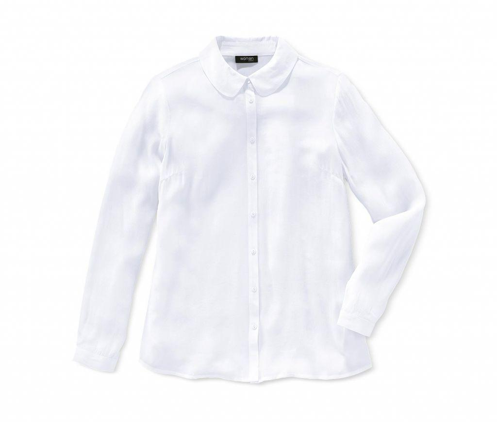 Біла віскозна блуза сорочка Tchibo Німеччина 46(UKR)