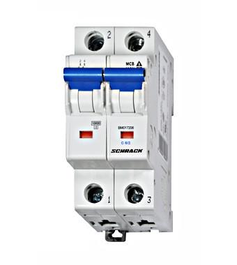 Автоматический выключатель BM 10кА 2P 6A х-ка C 40 ° С Schrack