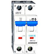 Автоматический выключатель постоянного тока BM 10kA 2P 16A х-ка C 40 ° С Schrack