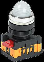 Лампа AL-22 сигнальная d22мм белый неон/240В цилиндр ИЭК