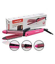Многофункциональный утюжок для волос Nova 3 in 1 Multifunction Perfect Curl and Straightener NHC-8890, фото 2