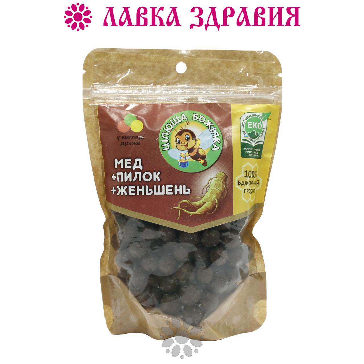 "Натуральные конфеты-драже ""Цілюща бджілка"" с женьшенем, 150 г"