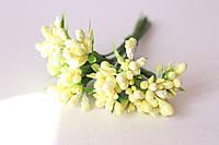 Добавка блеск с травкой  10-12 шт\уп. светло-жетого цвета, фото 1