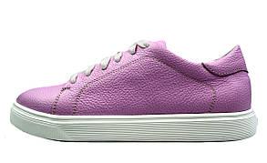 Розовые женские кожаные слипоны EGUZA на шнуровке