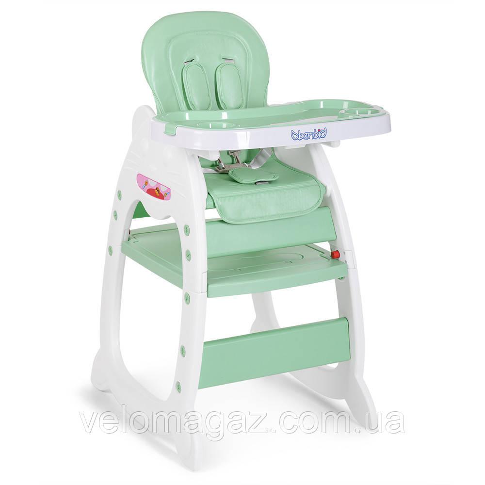 Дитячий стільчик-трансформер для годування M 3612-5, м'ятний