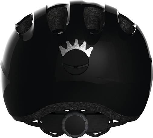 Велосипедний дитячий шолом ABUS SMILEY 2.0 S Royal Black, фото 2