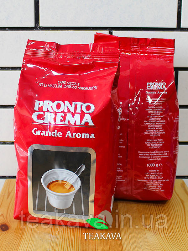 Кофе в зёрнах Lavazza Pronto Crema Grande Aroma, 1 кг (80/20)
