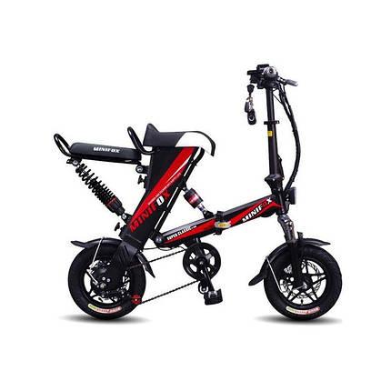 Електровелосипед E-BIKE MiniFOX навантаження до 140 кг велосипед на моторі 250W, фото 2