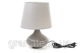 Лампа настольная с абажуром 36 см, цвет: серый