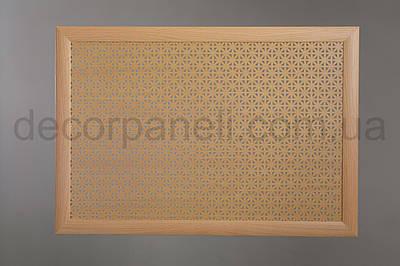 Решетка на чугунную батарею Стандарт, 68 см х 98 см, цвет бук Сити