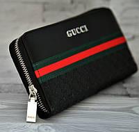 Кошелек барсетка Gucci 116262 искусственная кожа черный 19 х 10 см копия, фото 1