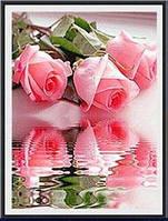 """Алмазная мозаика вышивка """"Розы в воде"""", фото 1"""