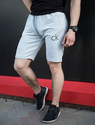 Мужские шорты в стиле Calvin Klein серые (S, M, L, XL размеры), фото 2