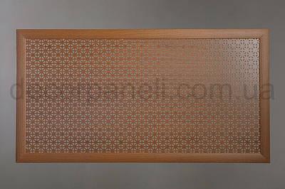 """Решетка на чугунную батарею """"Стандарт"""", 68 см х 98 см, цвет лесной орех Сити"""