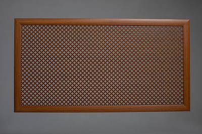 """Решетка на чугунную батарею """"Стандарт"""", 68 см х 98 см, цвет лесной орех Роял"""