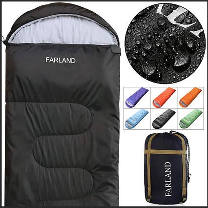 Спальный мешок Farland 4 сезона водонепроницаемый серый, фото 2