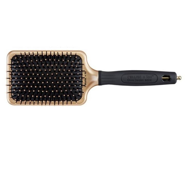 Щетка для волос Olivia Garden Ceramic + ion Paddle large Black&Gold Edition, OGBCIPL-BGE