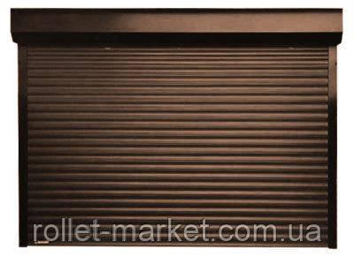 Роллеты для гаража Aluproff 77 мм 3500х2200 габарит с ручным управлением