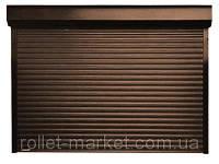 Роллеты для гаража Aluproff 77 мм 3500х2200 габарит с ручным управлением, фото 1