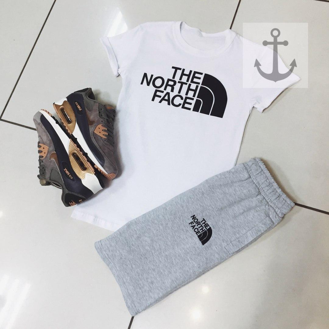 Мужские шорты в стиле The North Face серые (S, M, L, XL размеры)