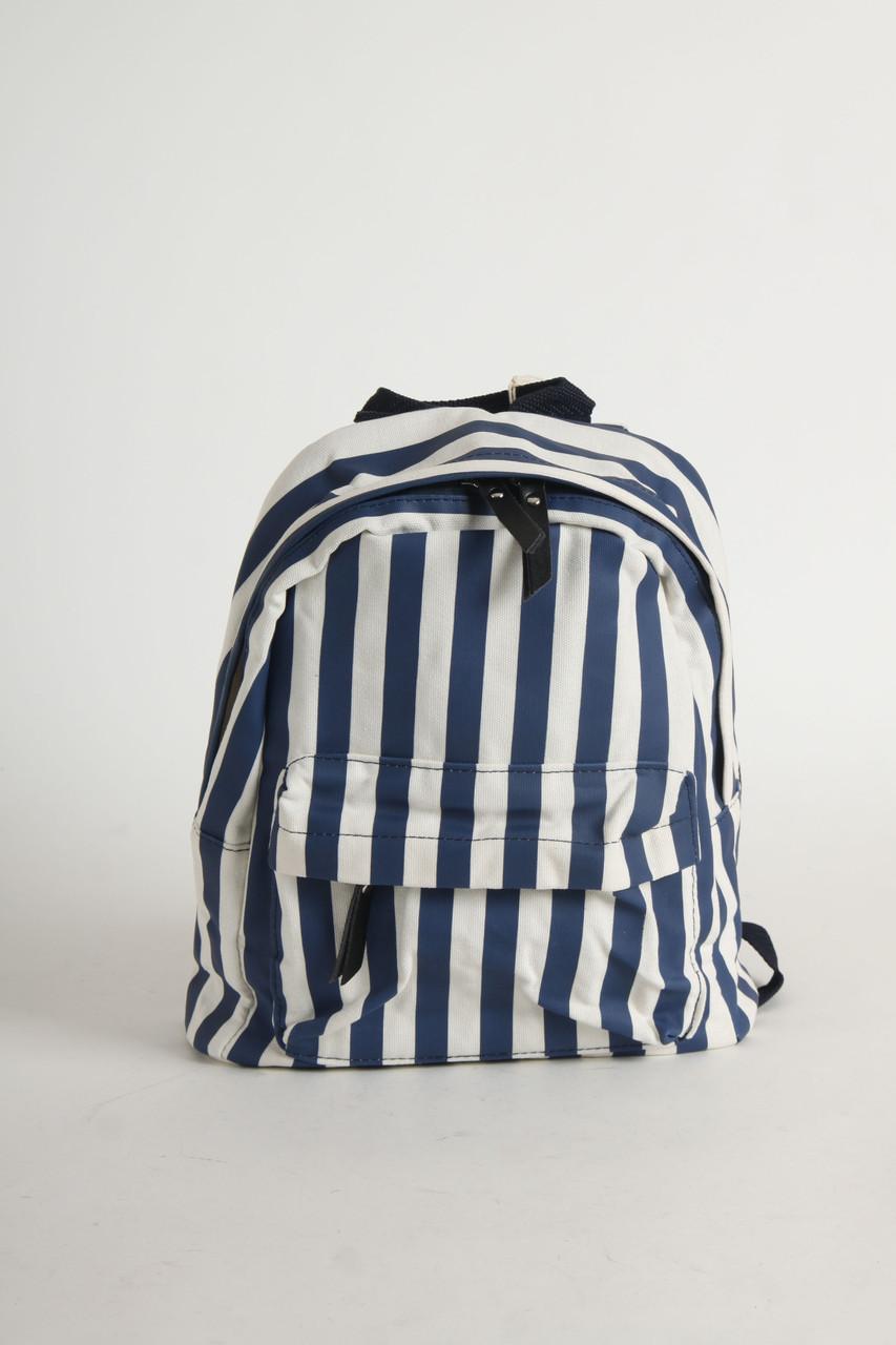 Рюкзак Button Blue 30x26 cm (118BBUX30031005_White-Blue)