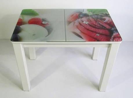Стол кухонный стеклянный DK-871 раскладной Eurostek, фото 2
