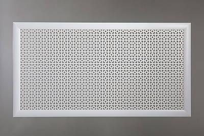 "Решетка на чугунную батарею ""Стандарт"", 68 см х 128 см, цвет белый Эфес"