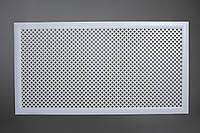 """Решетка на чугунную батарею """"Стандарт"""", 68 см х 128 см, цвет белый Роял"""