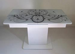 Стол в современном стиле раскладной со стеклянной столешницей Готье 01 Eurostek
