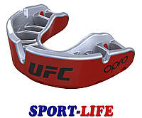 Капа OPRO Gold Braces UFC Hologram Black Metal/Silver, фото 1