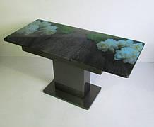 Стол в современном стиле раскладной со стеклянной столешницей  Готье 02 Eurostek