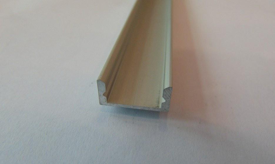 Алюминиевый накладной led-профиль ЛП-7 Б/А + линза рассееватель