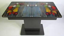Стол в современном стиле раскладной со стеклянной столешницей Готье 03 Eurostek