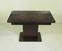 Стол в современном стиле раскладной со стеклянной столешницей  Готье 04 Eurostek