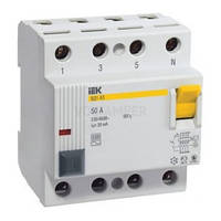 Устройство защитного отключения (УЗО) ВД1-63 4P 25 А 30 мА тип AC, IEK