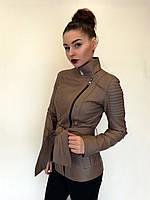 Куртка кожаная Oscar Fur 580 Кофейный