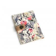 Обложка на ID паспорт пластиковый Цветы