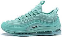 Женские кроссовки Nike Air Max 97 Ultra '17 SE Mint (Найк Аир Макс 97) в стиле бирюзовые